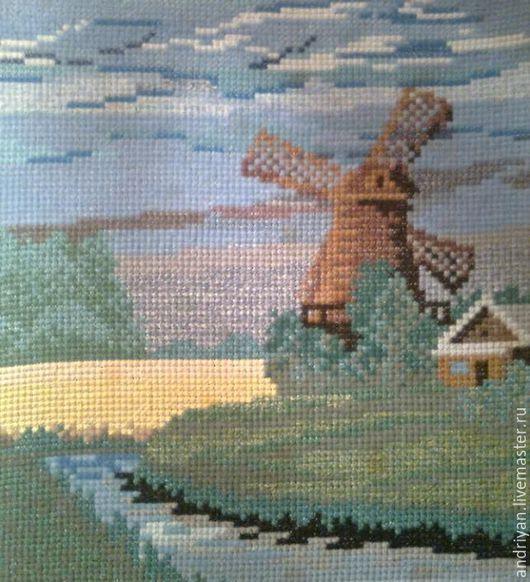 Пейзаж ручной работы. Ярмарка Мастеров - ручная работа. Купить Старая мельница. Handmade. Комбинированный, пейзаж, картина для дома