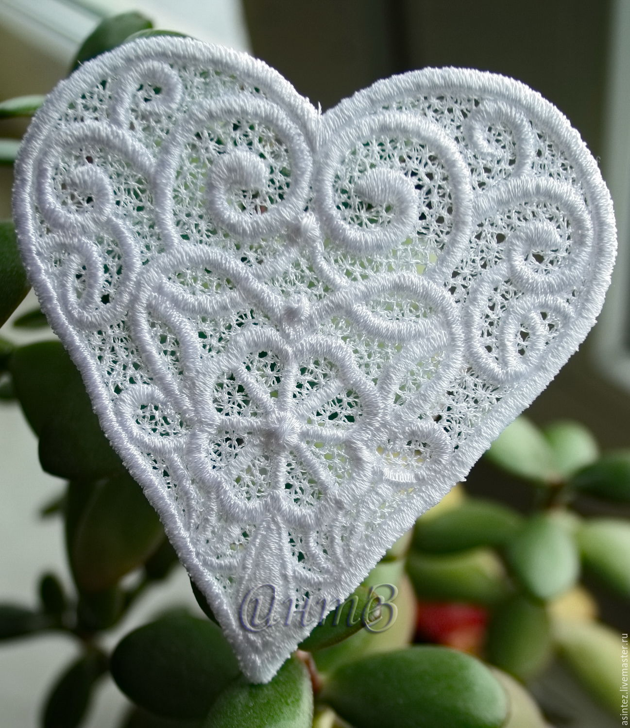 Embroidery applique heart patch termo FSL free, Applications, Moscow,  Фото №1