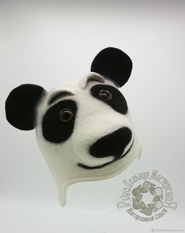 Hat for the bath ' Panda', Textiles for a bath, Kalachinsk,  Фото №1