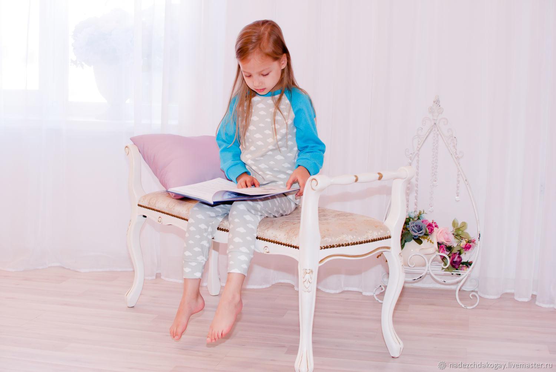 Одежда унисекс ручной работы. Ярмарка Мастеров - ручная работа. Купить Пижама Облака. Handmade. Голубой, детская одежда, трикотаж