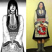 Платья ручной работы. Ярмарка Мастеров - ручная работа навеяно Молдавским костюмом. Handmade.