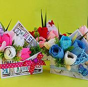 Букеты ручной работы. Ярмарка Мастеров - ручная работа Конверт из сладких цветов. Handmade.
