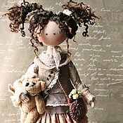 Куклы и игрушки handmade. Livemaster - original item In explanation of Ideeli.Textile doll. Boho style. Handmade.