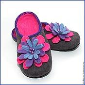 """Обувь ручной работы. Ярмарка Мастеров - ручная работа Тапочки """"Разноцветие2"""". Handmade."""