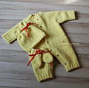 "Работы для детей, handmade. Livemaster - original item Set for the newborn ""Sunny Bunny"". Handmade."