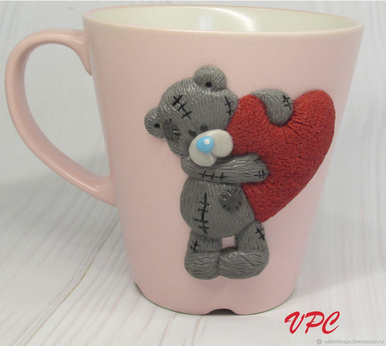 Mug Decorated With Polymer Clay Teddy Kupit Na Yarmarke Masterov Ghzx1com Kruzhki I Chashki Omsk