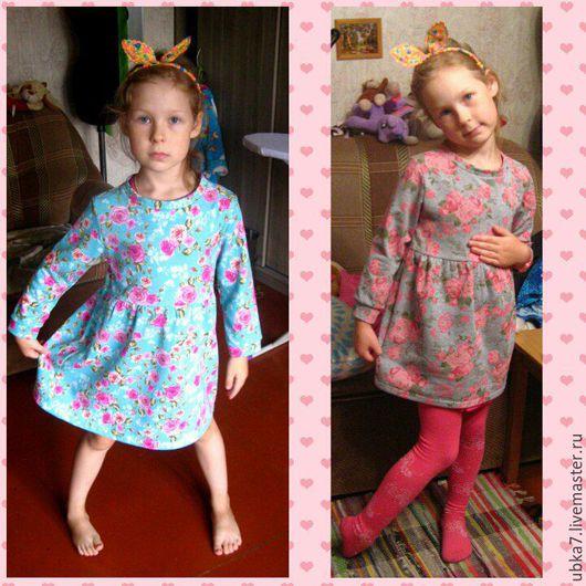 Одежда для девочек, ручной работы. Ярмарка Мастеров - ручная работа. Купить Платье - туника для девочки теплое. Handmade. Комбинированный, хлопок