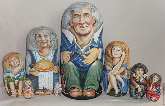 Персональные подарки ручной работы. Ярмарка Мастеров - ручная работа. Купить Большое семейство. Handmade. Семья, оригинальный подарок