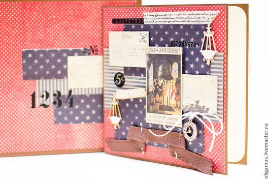 Открытки для мужчин, ручной работы. Ярмарка Мастеров - ручная работа. Купить Мужская открытка в коробке 12. Handmade. мужской подарок