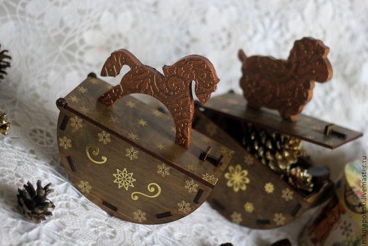 """Новый год 2017 ручной работы. Ярмарка Мастеров - ручная работа. Купить Большой короб-качалка""""Шоколад"""". Handmade. Коричневый, новогодний подарок"""