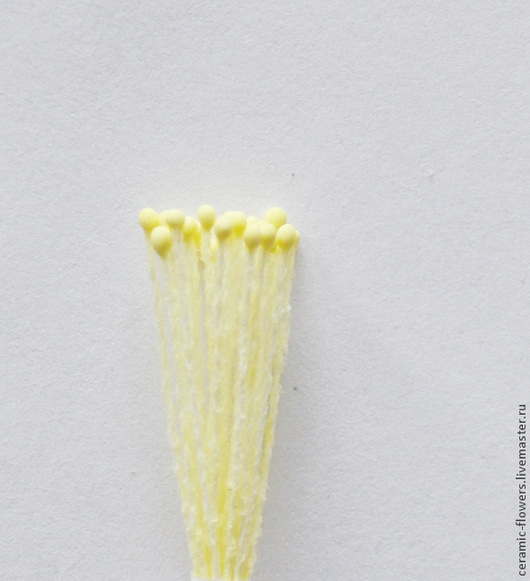 Материалы для флористики ручной работы. Ярмарка Мастеров - ручная работа. Купить Тычинки светло-желтые, мелкие. Handmade. Тычинки
