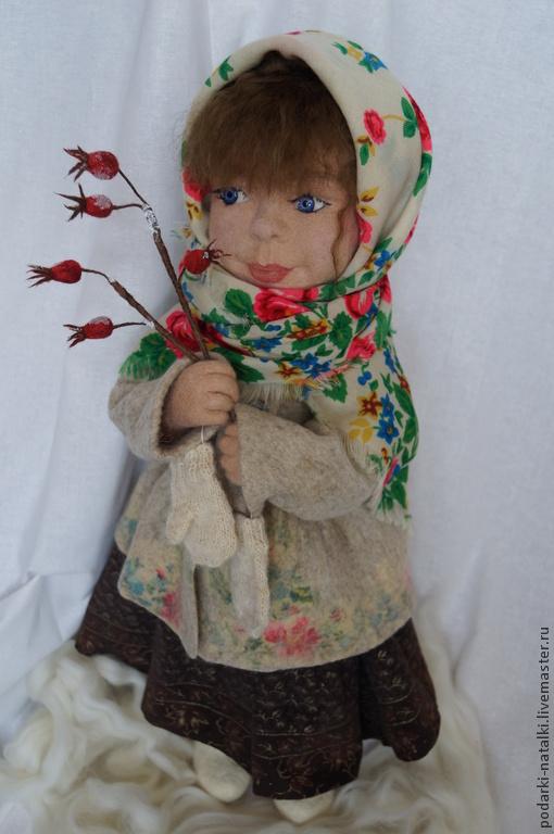Коллекционные куклы ручной работы. Ярмарка Мастеров - ручная работа. Купить Дария.В зимний лес за огоньками.. Handmade.