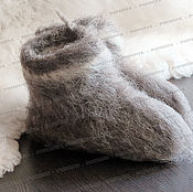 Обувь ручной работы handmade. Livemaster - original item Chuni sheep wool (gray) No. №1. Handmade.