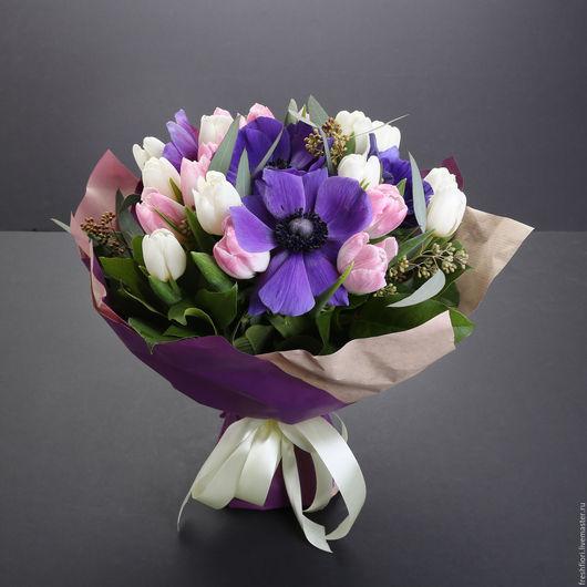 Букет Тюльпаны и Маки ( вид сбоку)