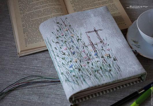 """Блокноты ручной работы. Ярмарка Мастеров - ручная работа. Купить Женский блокнот-софтбук """"Цветы под твоим окном"""". Handmade."""
