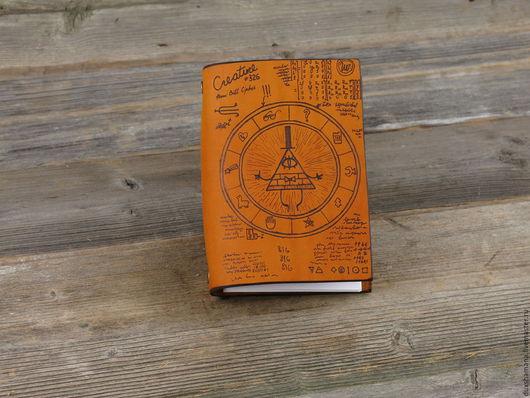 """Блокноты ручной работы. Ярмарка Мастеров - ручная работа. Купить Блокнот """"Билл Шифер"""". Handmade. Оранжевый, блокнот ручной работы"""