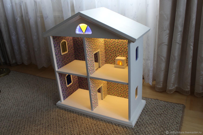 Дом для кукол из дерева - деревянный игрушечный кукольный домик, Кукольные домики, Санкт-Петербург, Фото №1