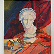 Картины и панно handmade. Livemaster - original item Oil painting still life Venus on a red canvas background. Handmade.