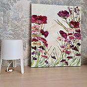Картины и панно handmade. Livemaster - original item Peonies bright flowers Burgundy pink milky buy painting. Handmade.