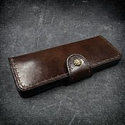 Сумки и аксессуары handmade. Livemaster - original item Purse(clutch) leather mod.Long Travel.. Handmade.