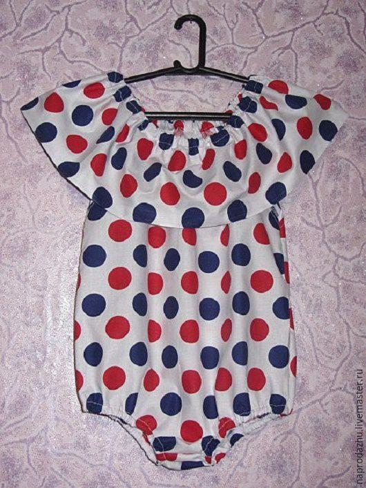 Одежда для девочек, ручной работы. Ярмарка Мастеров - ручная работа. Купить Модный песочник-боди для девочки, хлопок. Handmade. Комбинированный