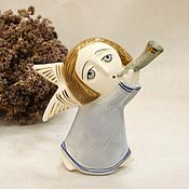 Shop porcelain story figurines new year 2018 easter gifts livemaster original item porcelain angel with a horn easter negle Gallery