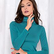 Одежда handmade. Livemaster - original item Turtleneck in modal turquoise. Handmade.