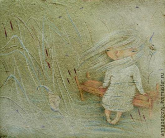 Картина Камышик. Девочка, весна.