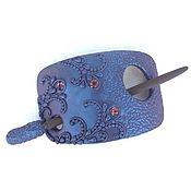 Украшения handmade. Livemaster - original item barrette lilac mist (purple, brooch, hair pin shawl). Handmade.