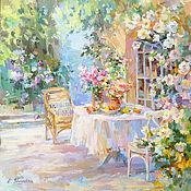 Картины и панно handmade. Livemaster - original item Pictures: In a shady garden. Painting. Handmade.