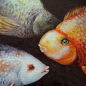"""Картины и панно ручной работы. Ярмарка Мастеров - ручная работа """"На глубине"""", картина акварелью. Handmade."""