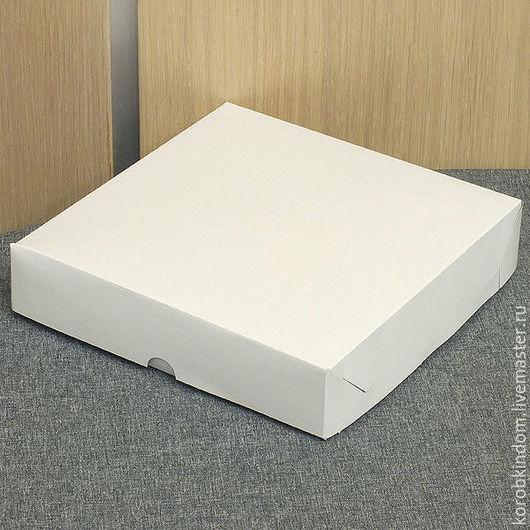 Упаковка ручной работы. Ярмарка Мастеров - ручная работа. Купить Коробка 16х16х3,5 крышка-дно белая. Handmade. Коробочка