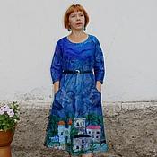 """Валяное платье """"Город ночью"""""""
