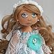 Коллекционные куклы ручной работы. Ярмарка Мастеров - ручная работа. Купить Тифани - текстильная кукла.. Handmade. Мятный, подарок девушке