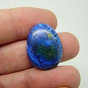 Материалы для творчества handmade. Livemaster - original item Azurite (Ural) cabochon 24х18х4 mm.. Handmade.