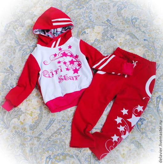 """Одежда для девочек, ручной работы. Ярмарка Мастеров - ручная работа. Купить Костюм утепленный под жилет """"Girl Star"""". Handmade."""