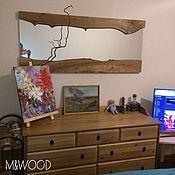Для дома и интерьера handmade. Livemaster - original item The mirror in the loft of the slab of elm. Handmade.