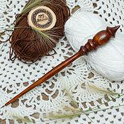 Материалы для творчества handmade. Livemaster - original item The spindle for spinning the Siberian Cedar Wooden spindle #B25. Handmade.