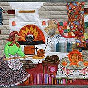 """Картины и панно ручной работы. Ярмарка Мастеров - ручная работа Панно из лоскутов  """"Старая сказка"""" № 492. Handmade."""