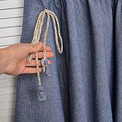 Одежда ручной работы. Ярмарка Мастеров - ручная работа Юбка в пол льняная в стиле бохо. Handmade.