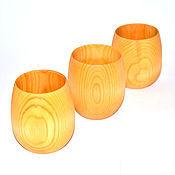 Посуда ручной работы. Ярмарка Мастеров - ручная работа Стакан кружка деревянная (набор) для чая и др из натурального кедра N3. Handmade.