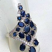 Украшения handmade. Livemaster - original item Silver ring with natural Sirius sapphires(p 16). Handmade.