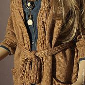 Одежда ручной работы. Ярмарка Мастеров - ручная работа Кардиган из верблюжьей шерсти. Handmade.