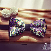 Аксессуары handmade. Livemaster - original item Tie Purple flora / butterfly on a purple tie wedding. Handmade.