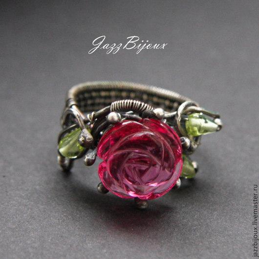 Кольца ручной работы. Ярмарка Мастеров - ручная работа. Купить Серебряное кольцо   с  розой. Handmade. Кольцо, черненое серебро