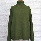 Одежда handmade. Livemaster - original item Sweater cashmere oversize loose shoulder coniferous. Handmade.