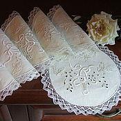 """Винтаж handmade. Livemaster - original item Антикварные салфетки""""Порхающие бабочки"""". Handmade."""