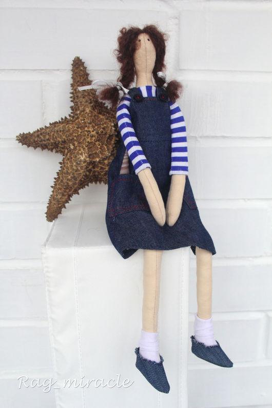 Куклы Тильды ручной работы. Ярмарка Мастеров - ручная работа. Купить Кукла текстильная ручной работы рыбачка Соня. Handmade.