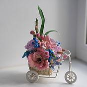 Цветы и флористика ручной работы. Ярмарка Мастеров - ручная работа Велосипедик с цветами. Handmade.
