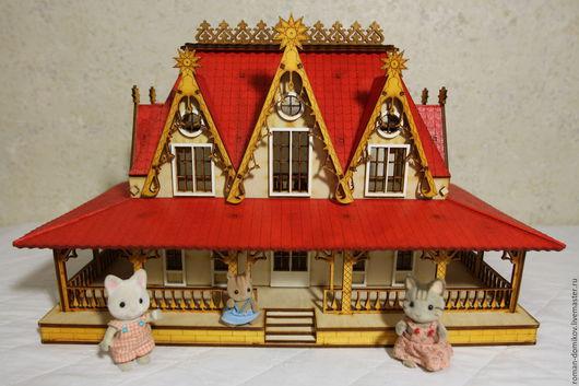 """Кукольный дом ручной работы. Ярмарка Мастеров - ручная работа. Купить Кукольный домик """"Белоснежка"""". Handmade. Кукольный домик"""